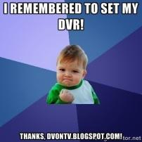 DVonTV Remebered to set DVR