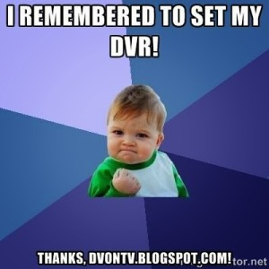DVonTV Remebered to set DVR