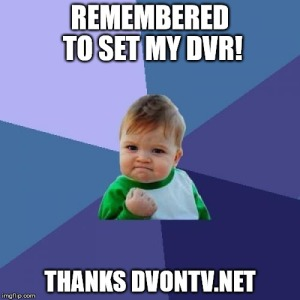 dvr- Thanks DVonTV
